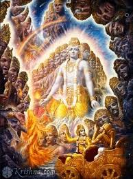 Lord Krishna revealed Vishwaroop Darshan to Arjuna described in Bhagavad Geeta