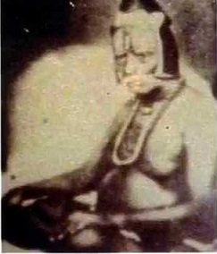 Original photo: Swami with his cap on (1860-1865)