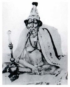 Original photo: Swami having Hukka (1860-1875)