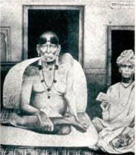 Original photo: Swami with another devotee (1860)