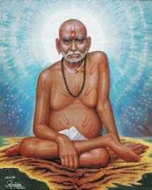 Swami Samarth sitting on vyagrahjin tiger skin Photo